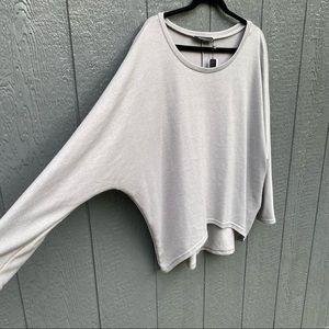 Zanzea Collection Grey Tunic Blouse M NWT